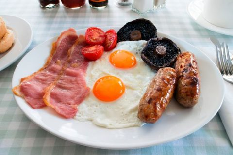 Diners-view-of-a-full-English-breakfast
