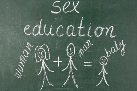Sex-education-written-on-blackboard-with-chalk-stick-figures