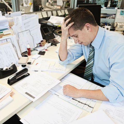 Stressed-office-worker