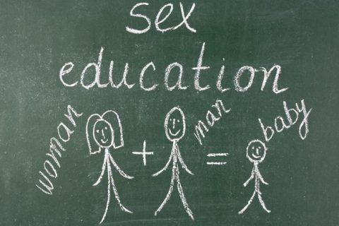 Sex-education-written-on-blackboard-with-chalk-stick-figures
